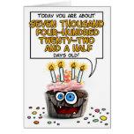 Magdalena del feliz cumpleaños - 20 años tarjetas