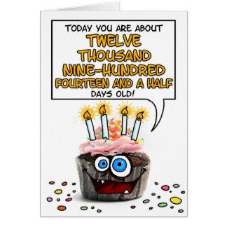 Magdalena del feliz cumpleaños - 35 años tarjeta de felicitación