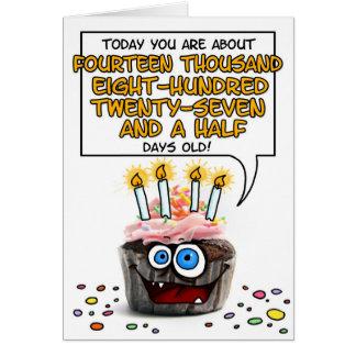 Magdalena del feliz cumpleaños - 40 años tarjeta de felicitación