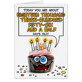 Magdalena del feliz cumpleaños - 50 años tarjetas