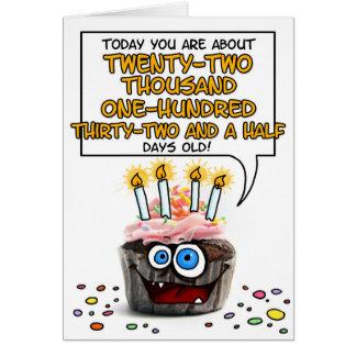 Magdalena del feliz cumpleaños - 60 años tarjeta de felicitación