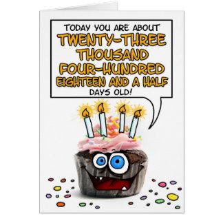 Magdalena del feliz cumpleaños - 64 años tarjeta de felicitación