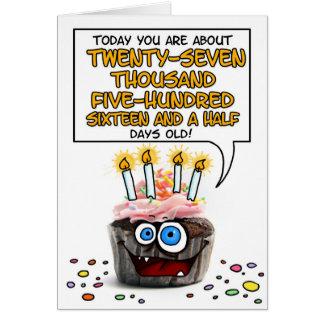 Magdalena del feliz cumpleaños - 75 años tarjeta de felicitación