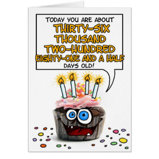 Magdalena del feliz cumpleaños - 99 años tarjeta de felicitación