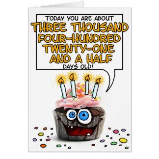Magdalena del feliz cumpleaños - 9 años tarjeta de felicitación