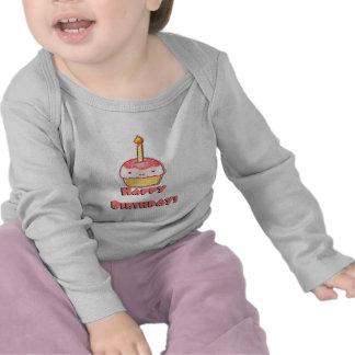 Magdalena del feliz cumpleaños camisetas