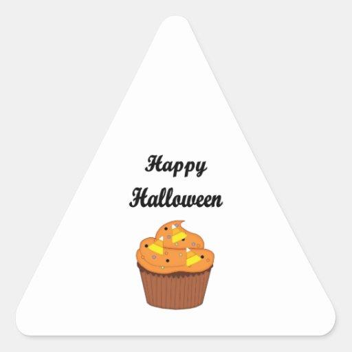 Magdalena del feliz Halloween Pegatina Triangular