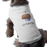Magdalena del muchacho del cumpleaños camiseta de perrito