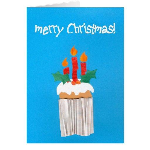 Magdalena del navidad con las velas tarjeta de felicitación