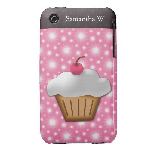 Magdalena del recorte con la cereza rosada en el t iPhone 3 Case-Mate cobertura