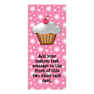 Magdalena del recorte con la cereza rosada en el t tarjetas publicitarias personalizadas