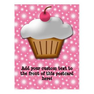 Magdalena del recorte con la cereza rosada en el tarjetas postales
