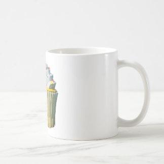 Magdalena deliciosa taza básica blanca