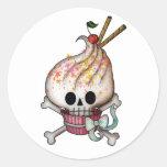 Magdalena dulce del cráneo pegatina redonda