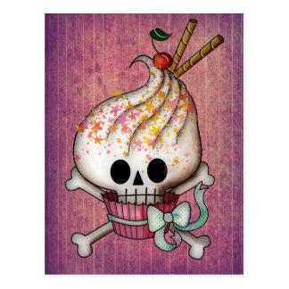 Magdalena dulce del cráneo tarjeta postal