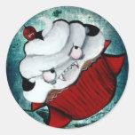 Magdalena dulce del vampiro pegatina redonda