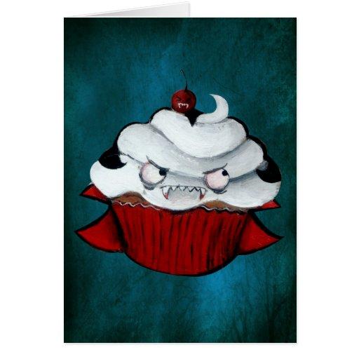 Magdalena dulce del vampiro tarjeta de felicitación