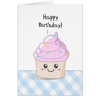 Magdalena dulce - tarjeta del feliz cumpleaños