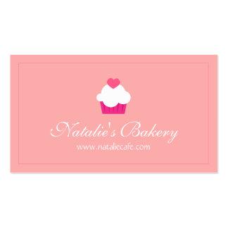 Magdalena elegante, moderna, dulce, panadería tarjetas de visita