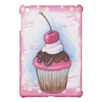 Magdalena en pastel en fondo rosado
