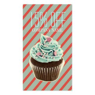 magdalena femenina de la panadería del tarjetas de visita