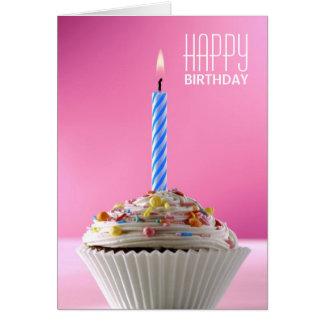 Magdalena helada adornada para el cumpleaños tarjeta de felicitación
