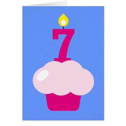 Magdalena linda con la vela del cumpleaños tarjeta de felicitación