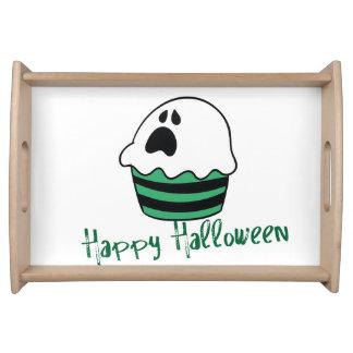 Magdalena linda del fantasma de Halloween Bandeja