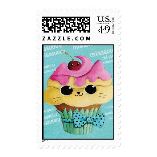 Magdalena linda del gatito sello postal