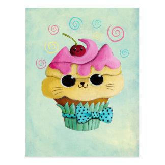 Magdalena linda del gatito tarjetas postales
