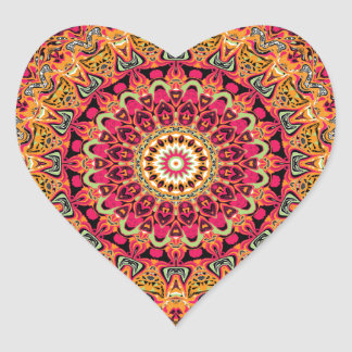 Magdalena Mandala Design Heart Sticker