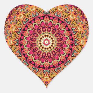 Magdalena Mandala Design Heart Sticker