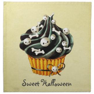 Magdalena negra de Halloween Servilleta De Papel