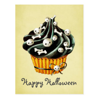 Magdalena negra de Halloween Postales