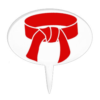 Magdalena roja del karate del primero de la torta figuras para tartas
