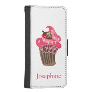 Magdalena rosada banal personalizada fundas tipo billetera para iPhone 5