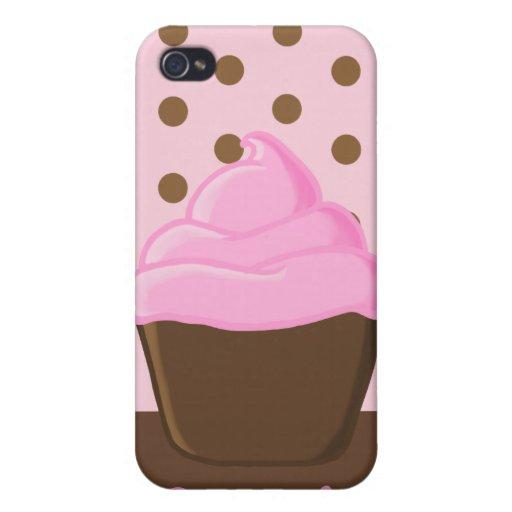 Magdalena rosada con el caso rosado del iPhone 4G  iPhone 4/4S Carcasa