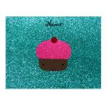 Magdalena rosada conocida personalizada del brillo tarjeta postal