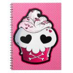 Magdalena rosada del cráneo cuaderno