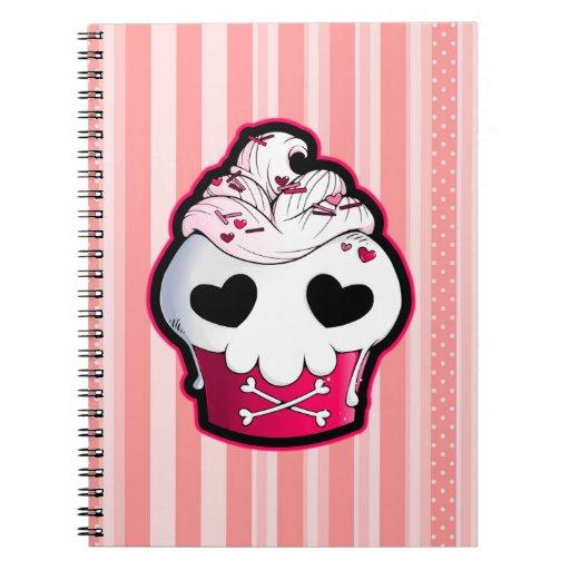 Magdalena rosada del cráneo libros de apuntes con espiral