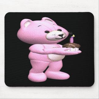 Magdalena rosada del peluche tapete de ratones