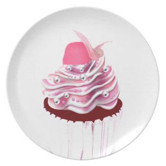 Magdalena rosada deliciosa plato