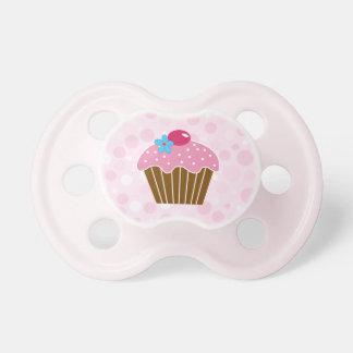 Magdalena rosada dulce chupetes de bebe