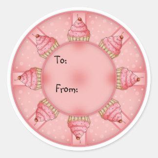 Magdalena rosada - etiqueta del regalo