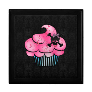 Magdalena rosada linda y joyero negro del cráneo cajas de joyas