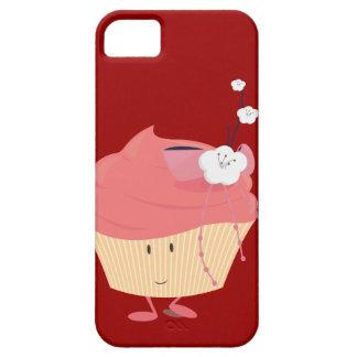 Magdalena rosada sonriente con el desmoche iPhone 5 cárcasa