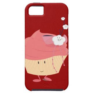 Magdalena rosada sonriente con el desmoche iPhone 5 protectores