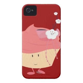 Magdalena rosada sonriente con el desmoche Case-Mate iPhone 4 protectores