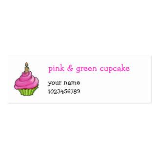 Magdalena rosada y verde pequeña tarjetas de visita mini