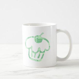 magdalena verde taza básica blanca